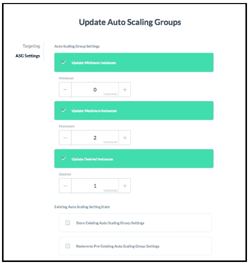 Update Auto Scaling Group - GorillaStack Cloud Elasticity Cost Optimization Features