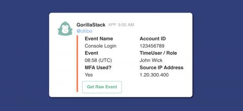 GorillaStack AWS CloudTrail Listener