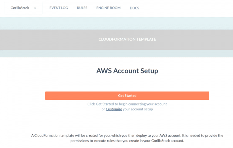 Customize your GorillaStack Cross-Account Role with AWS