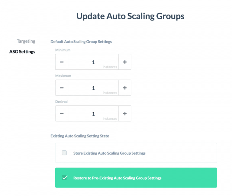 Automatically Reset Auto Scaling Groups to Previous Scale