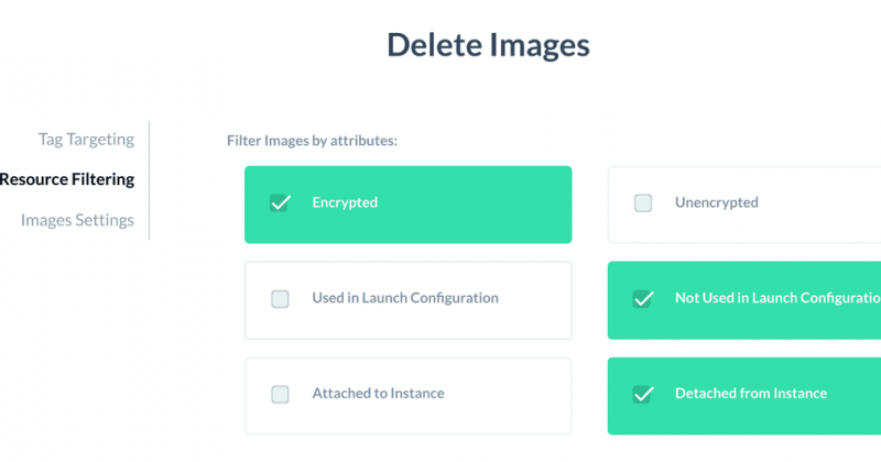 More filtering options for deleting images