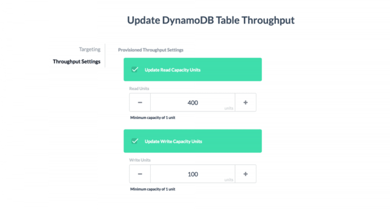 Automatically Scale DynamoDB Throughput